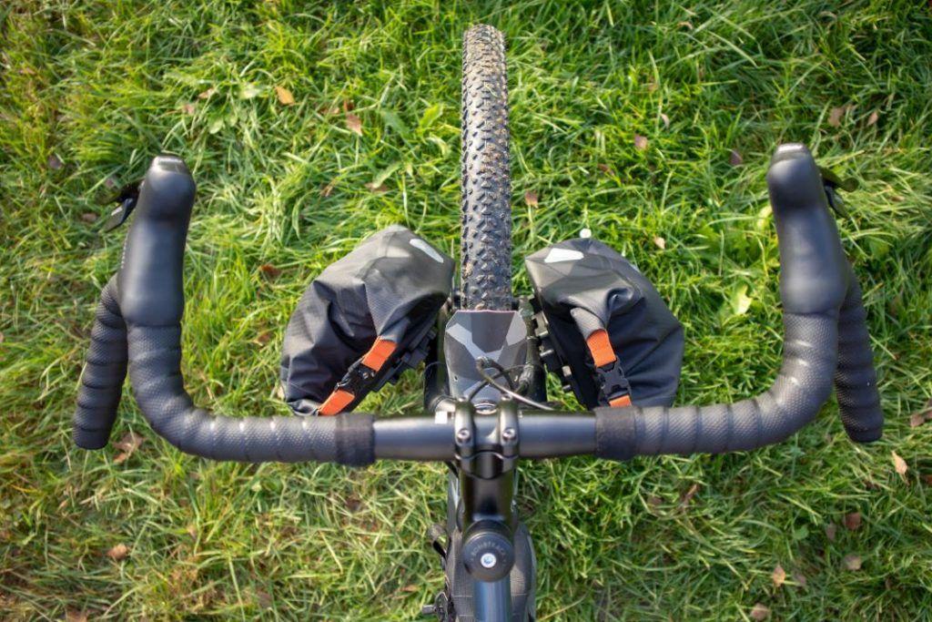 Ortlieb Fork Pack Test Fahrrad Gabeltaschen Anischt oben