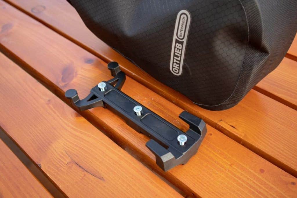 Ortlieb Fork Pack Test Scope of delivery bracket