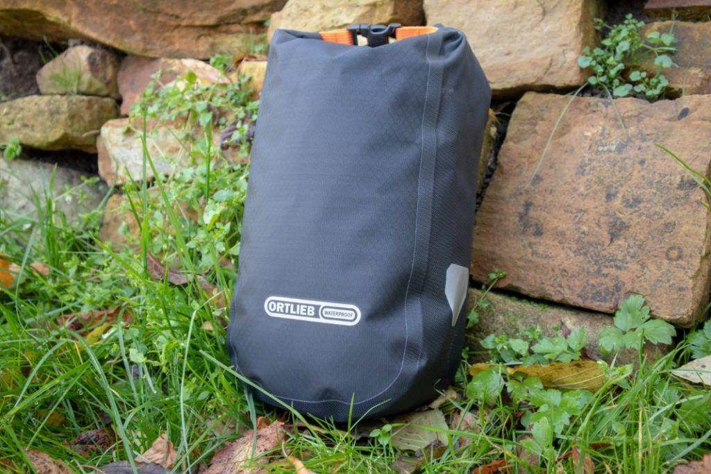 Ortlieb Fork Pack Test side view bikepacking fork bag