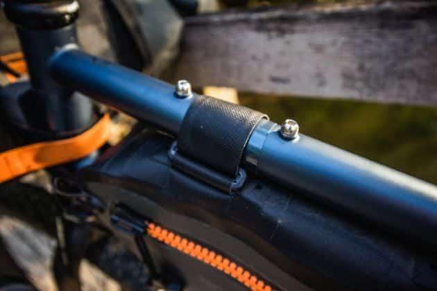 Ortlieb frame-pack toptube rahmentasche klettverschluss oben