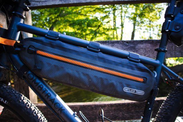 Ortlieb frame-pack toptube frame bag mounted
