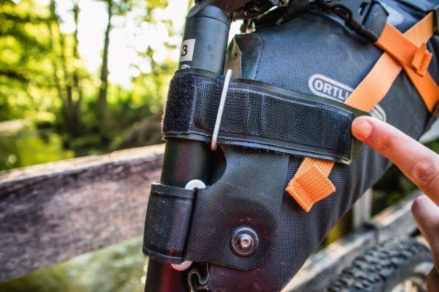 Ortlieb seat pack klettverschluss im detail satteltasche