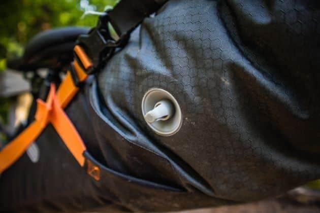 Ortlieb seat pack valve detail saddle bag