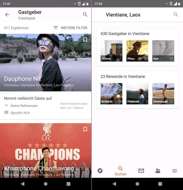 Couchsurfing beste Fahhrad Apps
