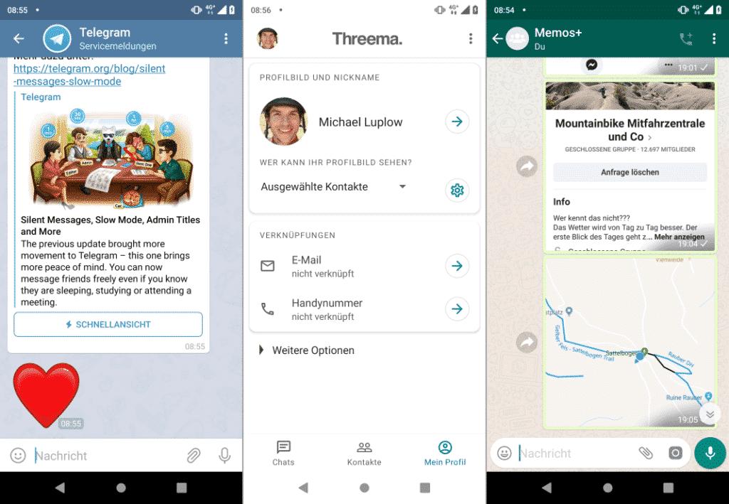 Fahrrad Apps Kommunikation Messenger