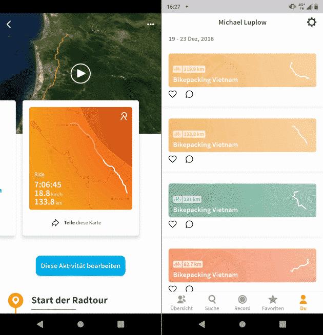 Relive.cc Fahrrad Apps Test