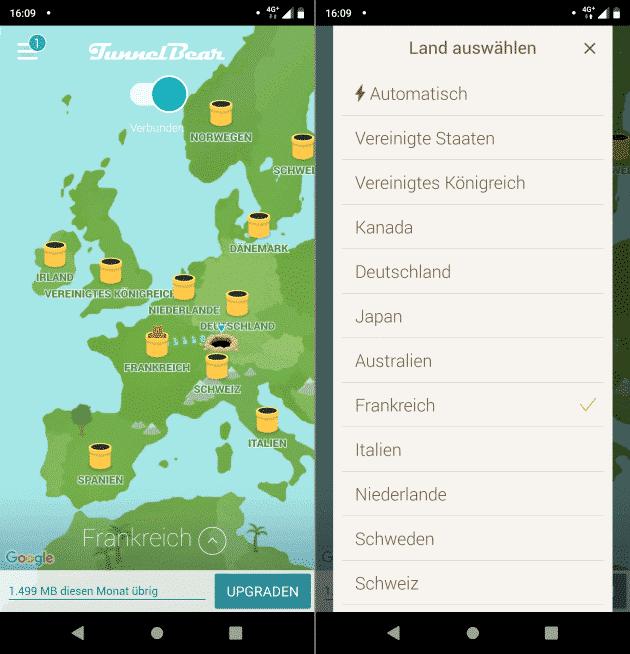 TunnelBear Fahrradtouren Apps kostenlos