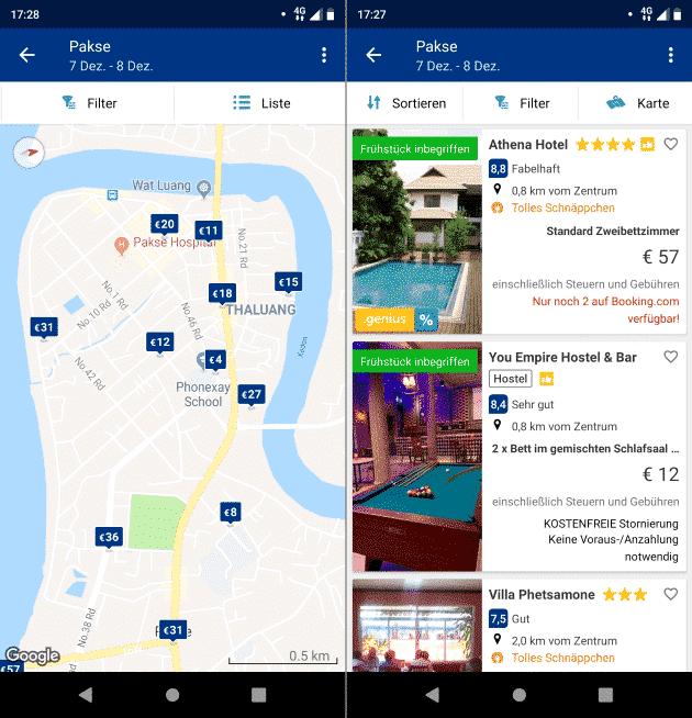 booking.com beste Fahrrad Apps