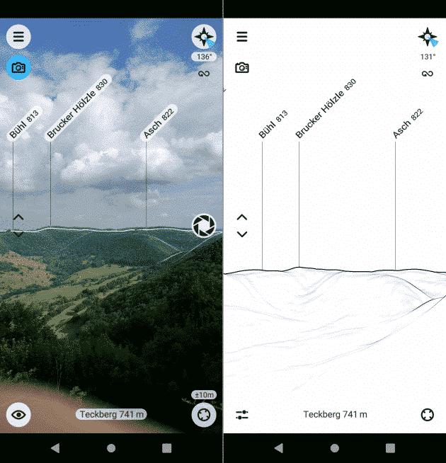 peak finder fahrrad navigation app