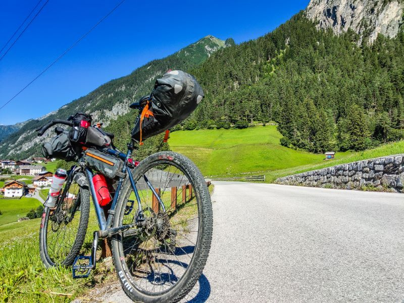 Alpenpass auf Bikepacking Route