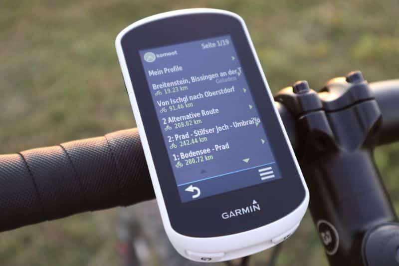 Garmin Edge Explore komoot Connect IQ App