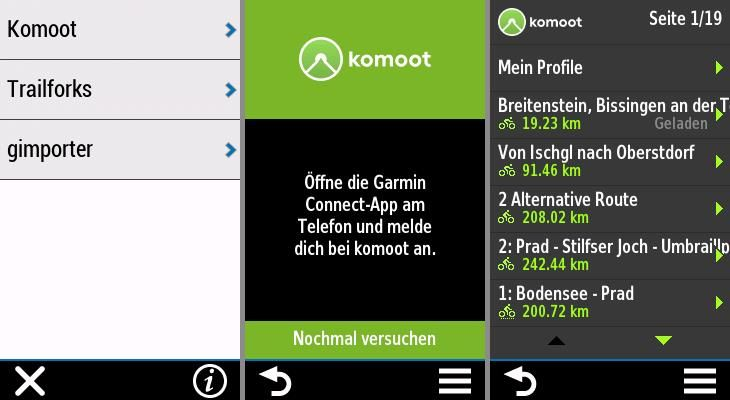 Garmin Edge Explore komoot Connect IQ Apps