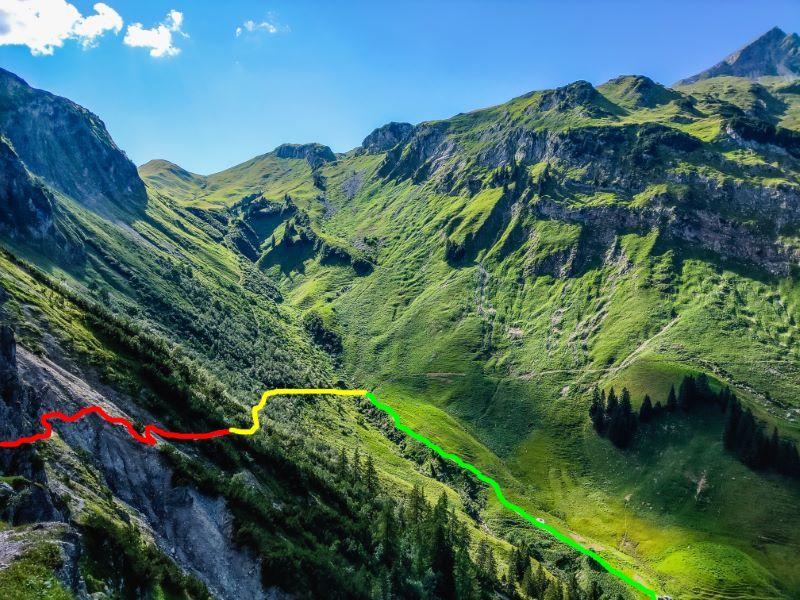 Schrofenpass Karte Farben