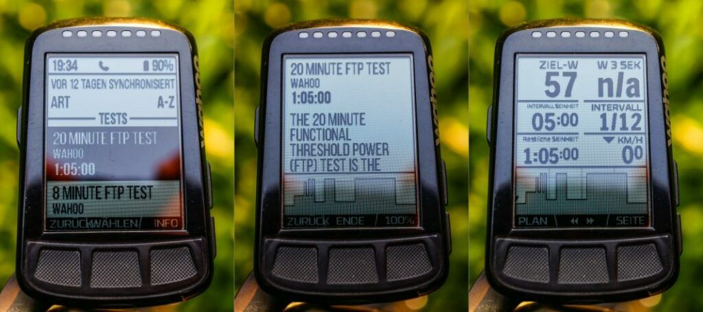 Wahoo ELEMNT Bolt Trainingsprogramme am GPS Bike Computer