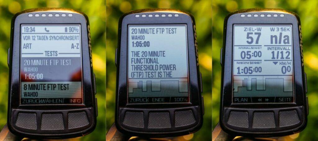 Wahoo ELEMNT Bolt Trainingsprogramme am GPS Bike Computer