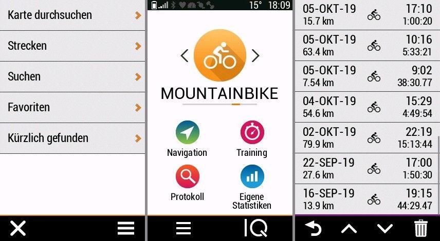 Garmin Edge 1030 Test Startseite Navigation