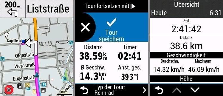 Garmin Edge 830 Erfahrungen Ziel erreicht auf GPS Fahrradcomputer