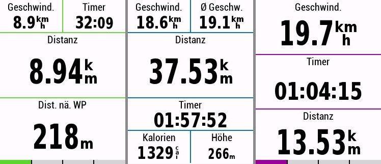 Garmin Edge 830 Test Datenfelder Fahrrad Navigation