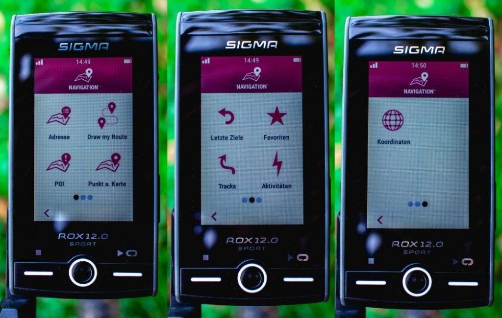 Sigma ROX 12 Erfahrunge Navigationsmöglichkeiten beim GPS Fahrrad Navi