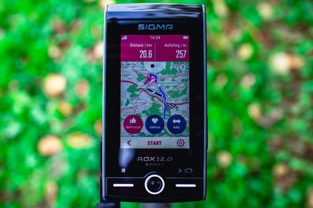 Sigma ROX 12 Test Fahrrad Navigation Routenvorschläge