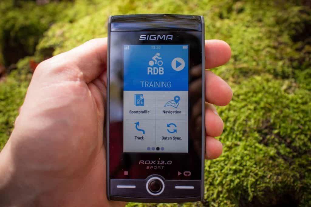 Sigma ROX 12.0 Sport Erfahrungen Display im Wald