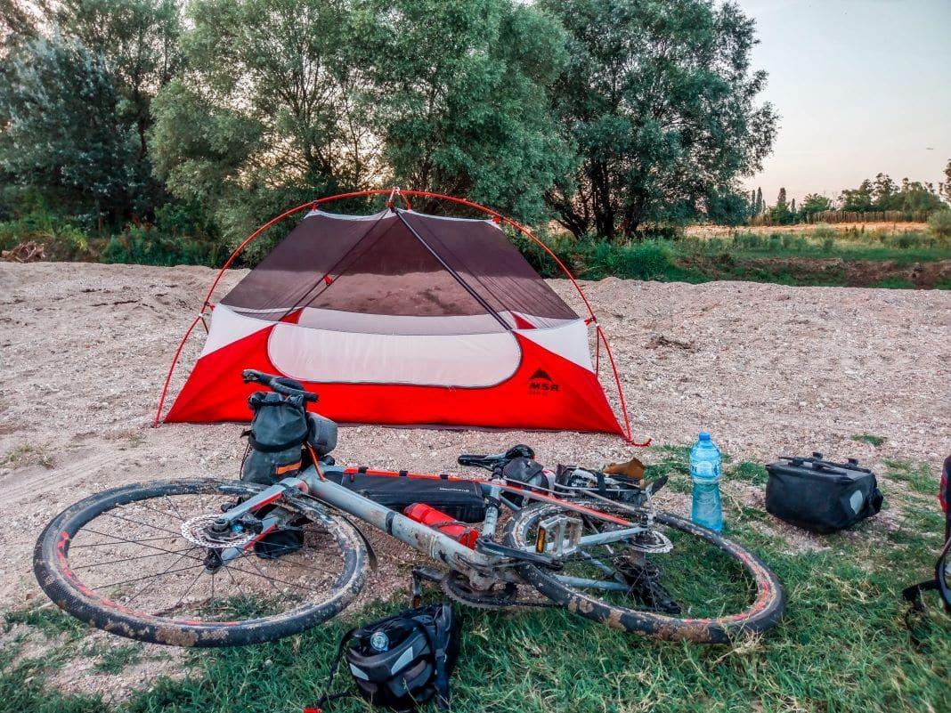 Bikepacking tent in Turkey