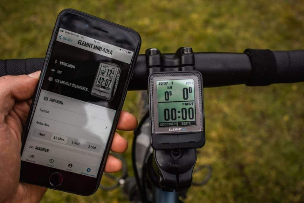 Wahoo ELEMNT Mini GPS mit Smartphone