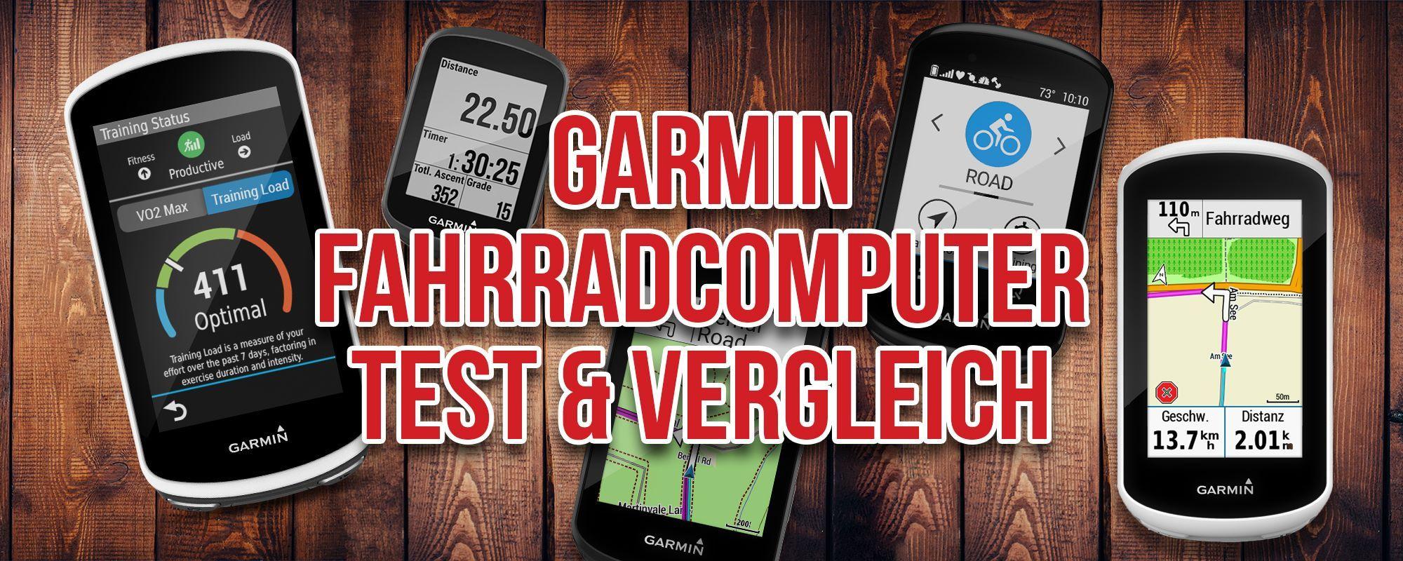 Großer Garmin Fahrrad Navi Test – Die beliebten Garmin Edge Radcomputer Modelle im ausführlichen Vergleich