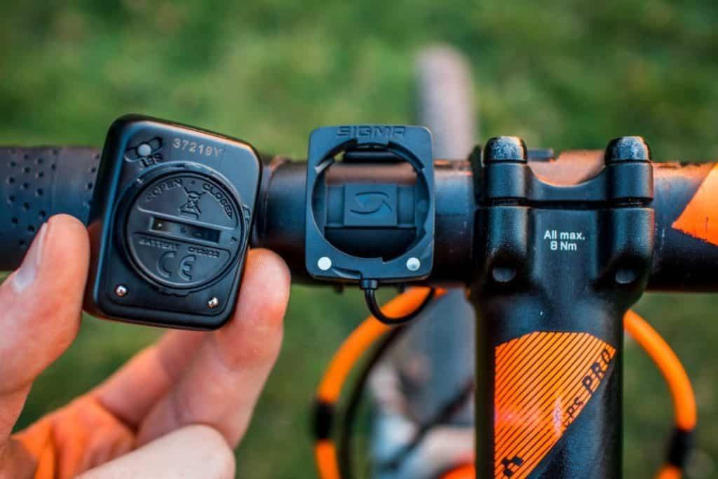 Sigma BC 5.16 Funktionen Halterung am Fahrrad
