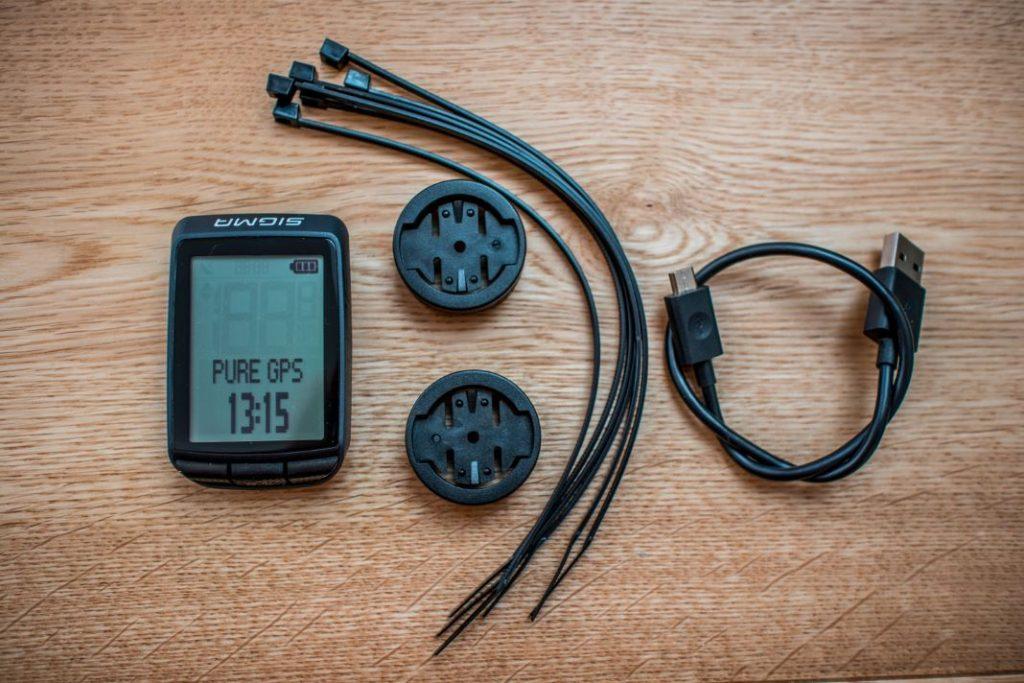 Sigma Fahrradcomputer Pure GPS Lieferumfang