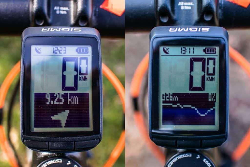 Sigma Pure GPS Fahrradcomputer mit integriertem Höhenmesser stitched