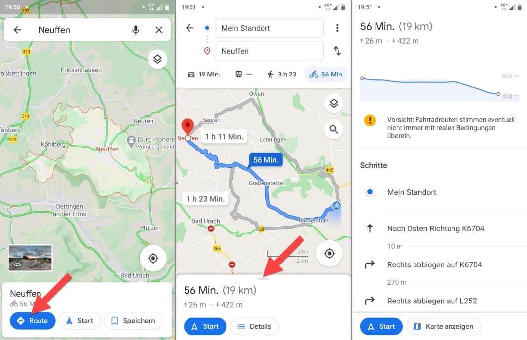 Google Maps Bike Legend Altitude