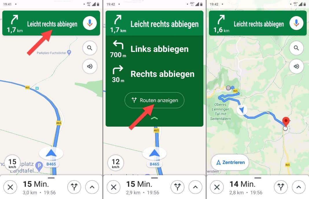 Google Maps Bike Navigation Map Overview