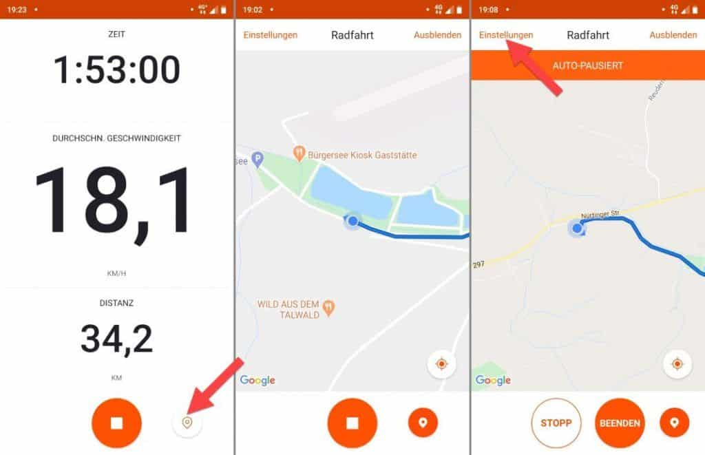 Strava App Erfahrungen Aktivität aufzeichnen