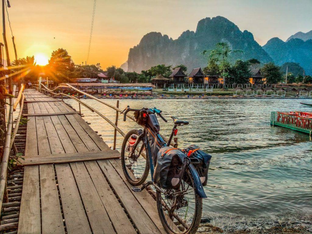 Laos Bike Tour Vang Vieng Bombtrack Beyond Bridge