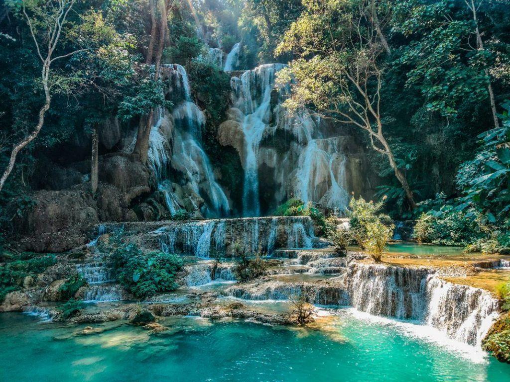 Luang Prabang sights waterfall Vang Vieng Kaeng Nyui good weather