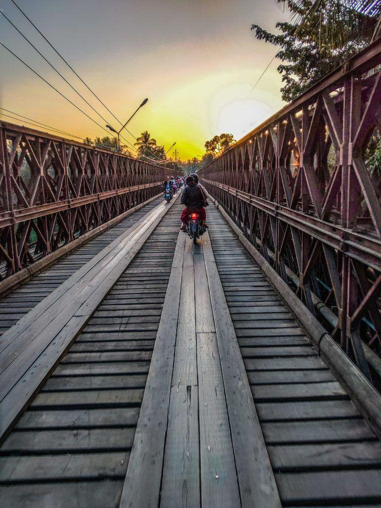 Luang Prabang sunset bridge