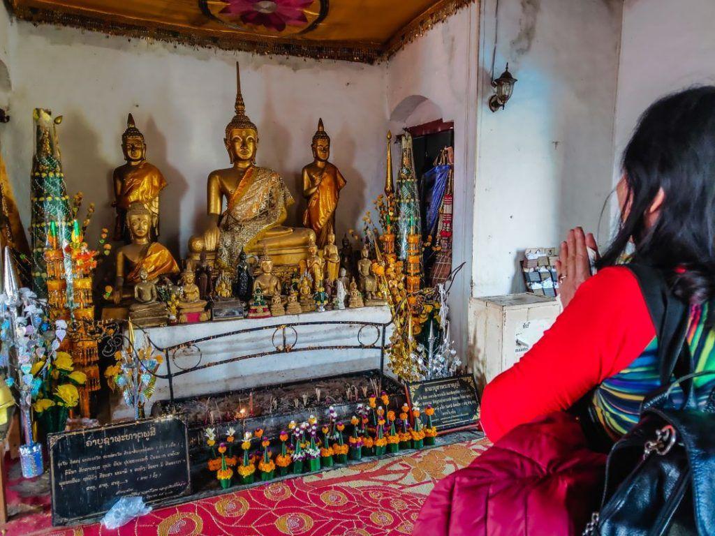 Laos Buddha Statue Woman