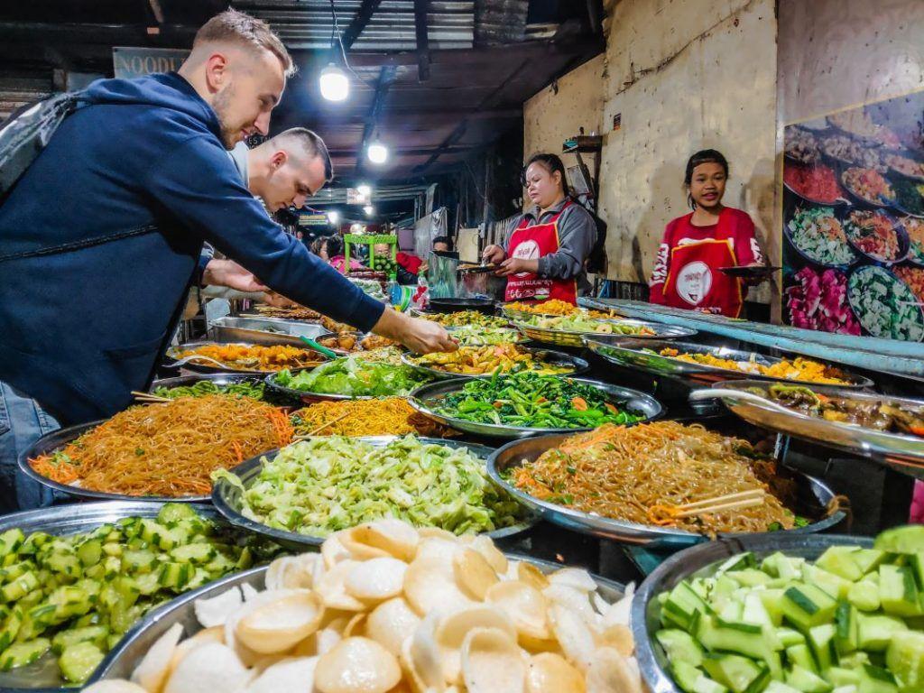 Laos Food Buffet Laung Prabang Night Market
