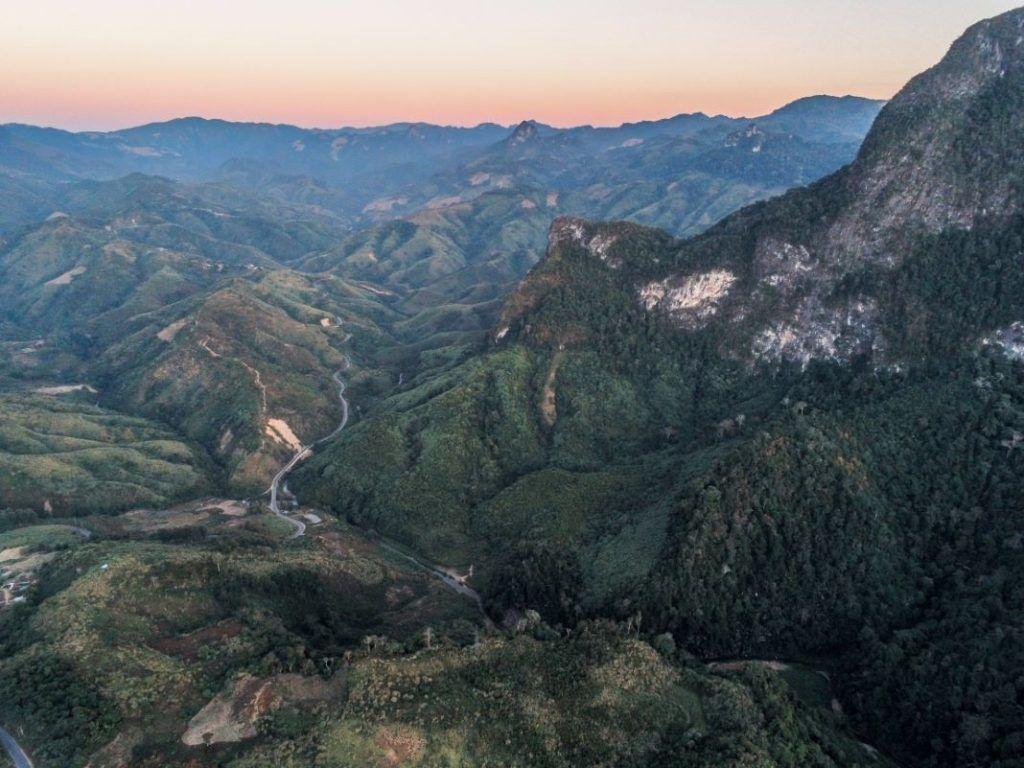Laos landscape Vang Vieng karst mountains