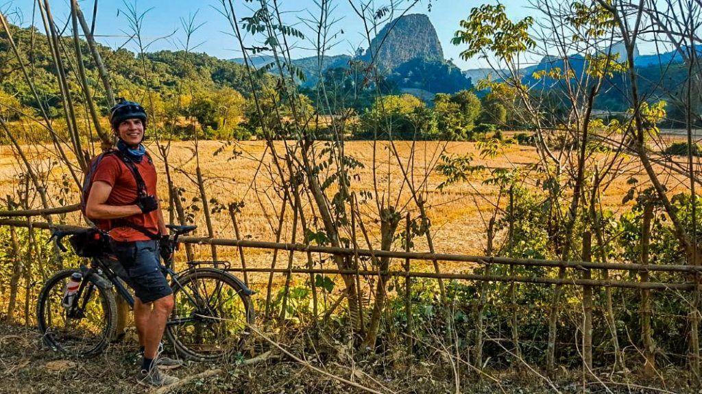 Laos landscape travelogue Muang Ngoy bike trip