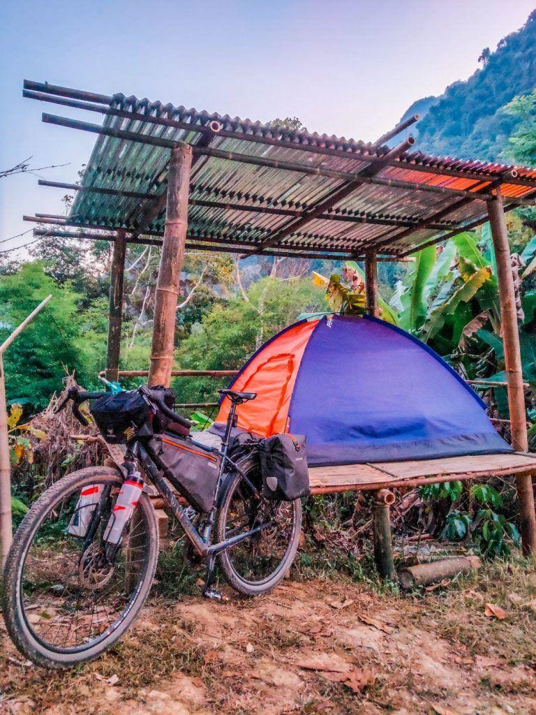 Laos Bike Tour Bombtrack Beyond Tent