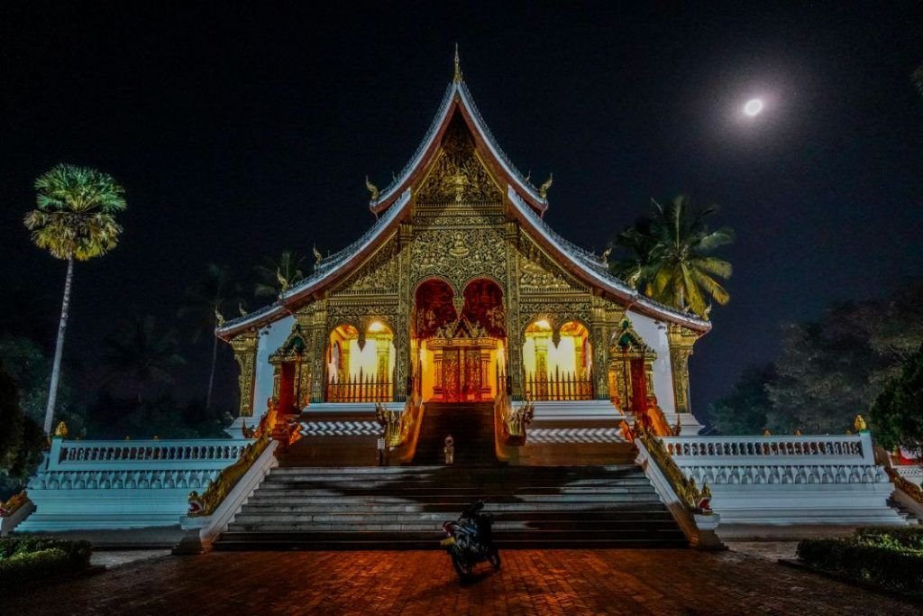 Luang Prabang sightseeing Royal Palace night