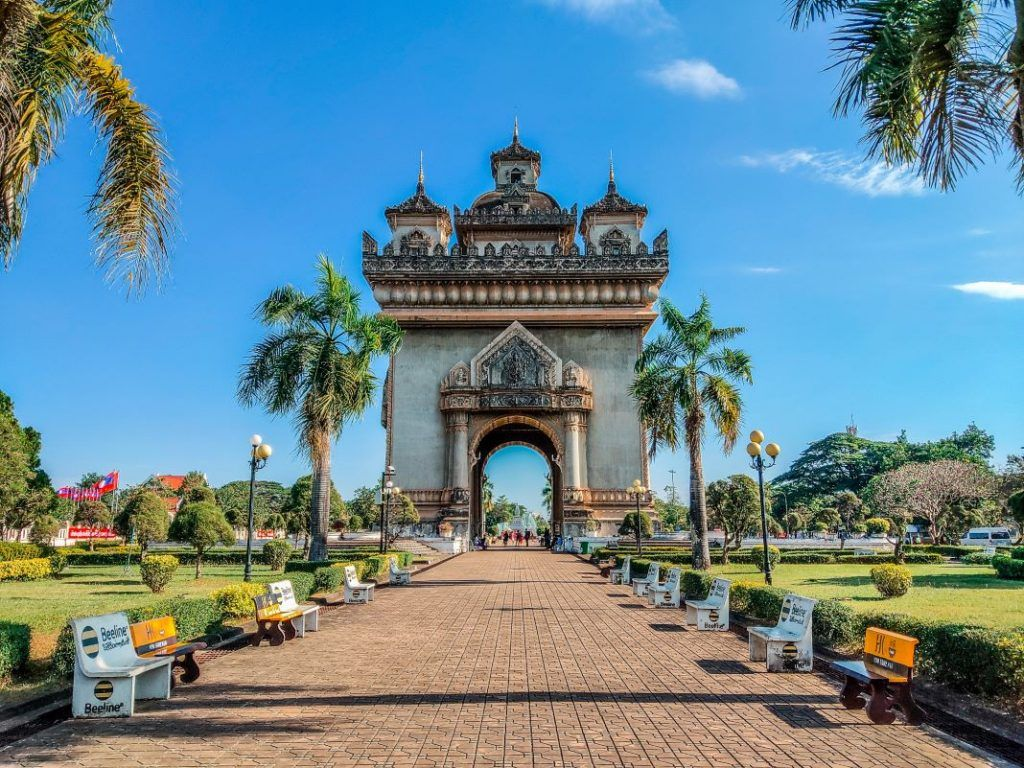 Vientiane Sights Patuxai Arc de Triomphe