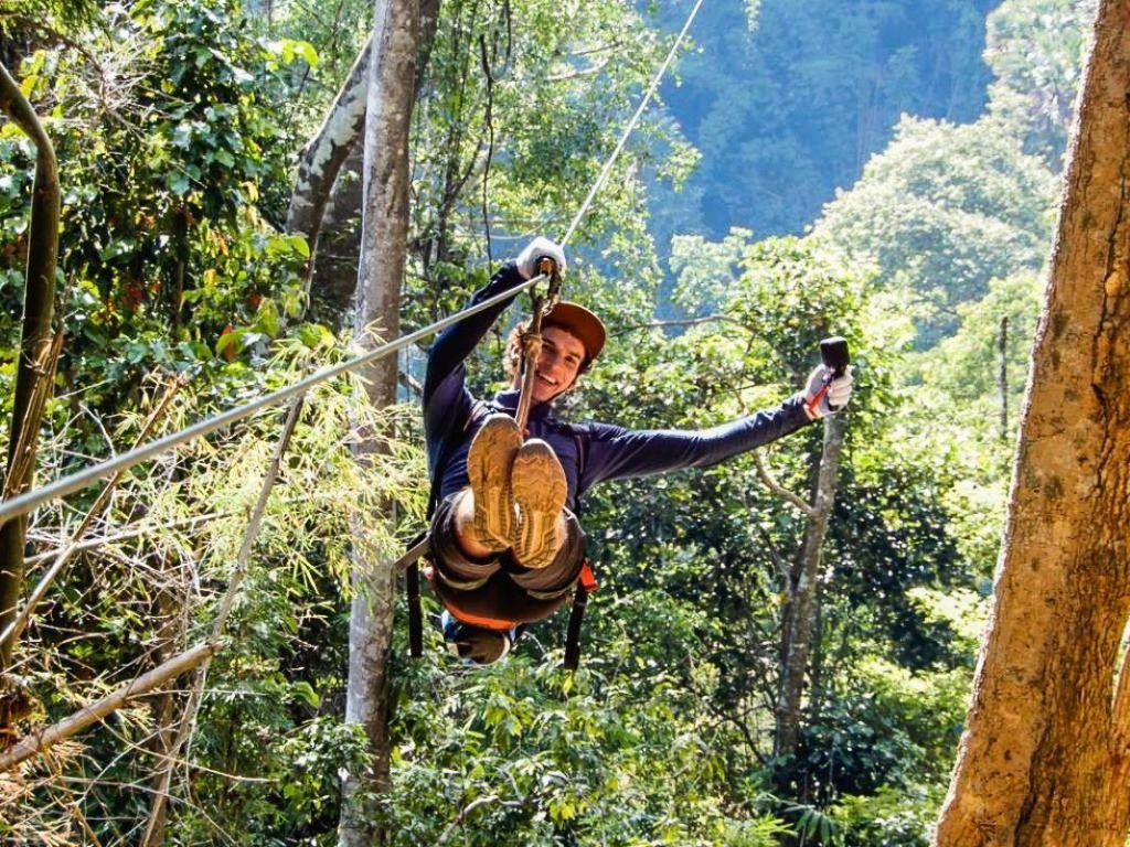 Zipline Gibbon Experience Laos Experience Michael