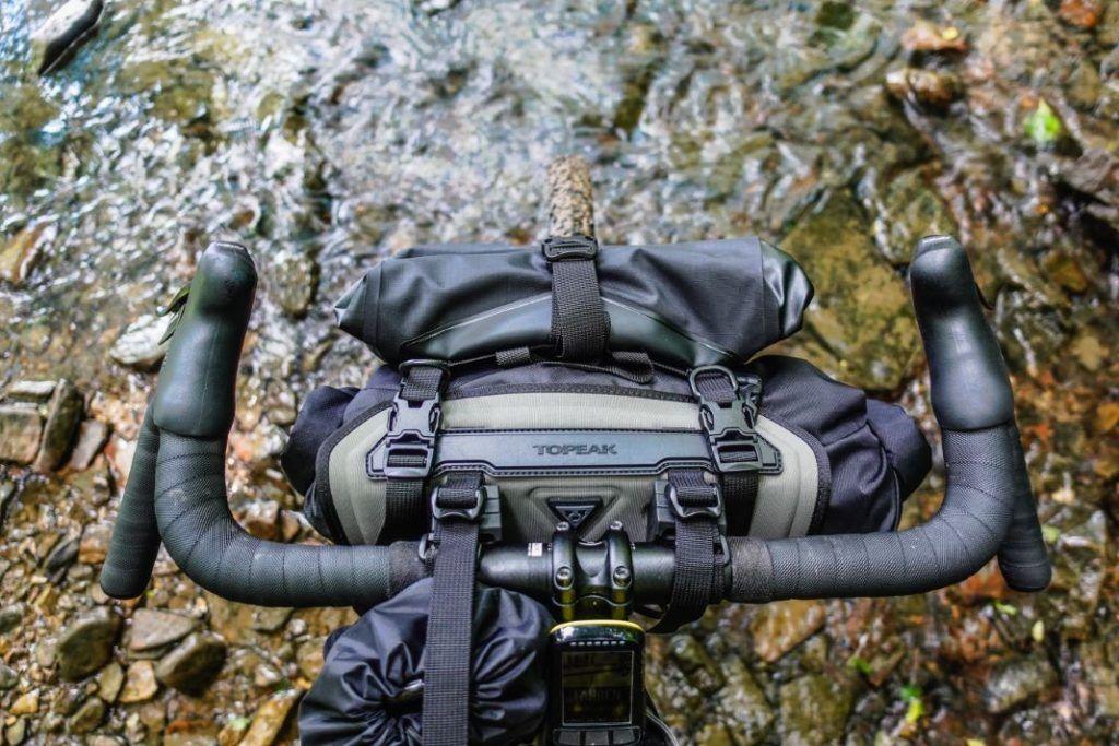 Topeak Barloader Lenkertasche Bikepacking Taschen Test Oben