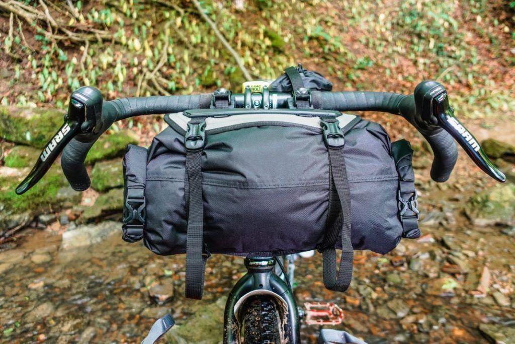 Topeak Frontloader Lenkertasche Lenkerrolle Fahrrad Bikepacking Test Front