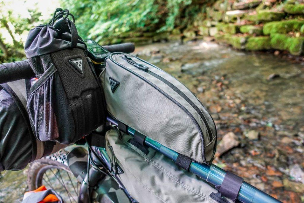 Topeak Toploader Oberrohrtasche Bikepacking Taschen Test Montage