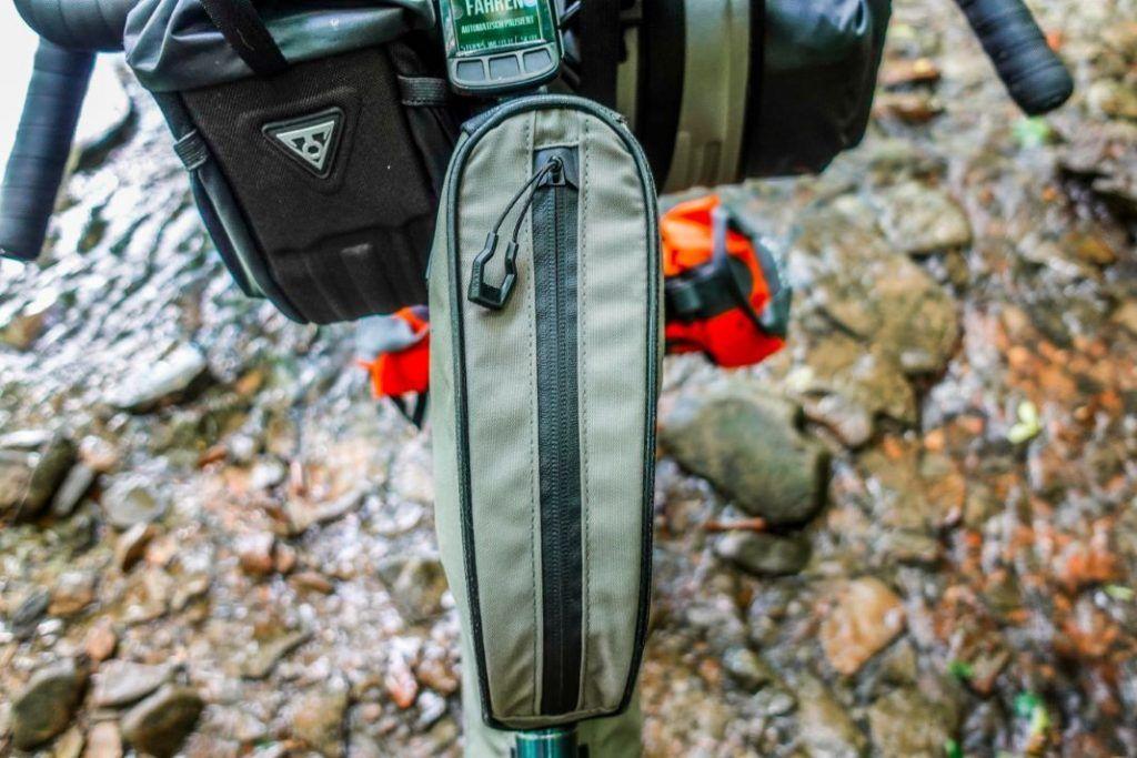 Topeak Toploader Oberrohrtasche Bikepacking Taschen Test Oben