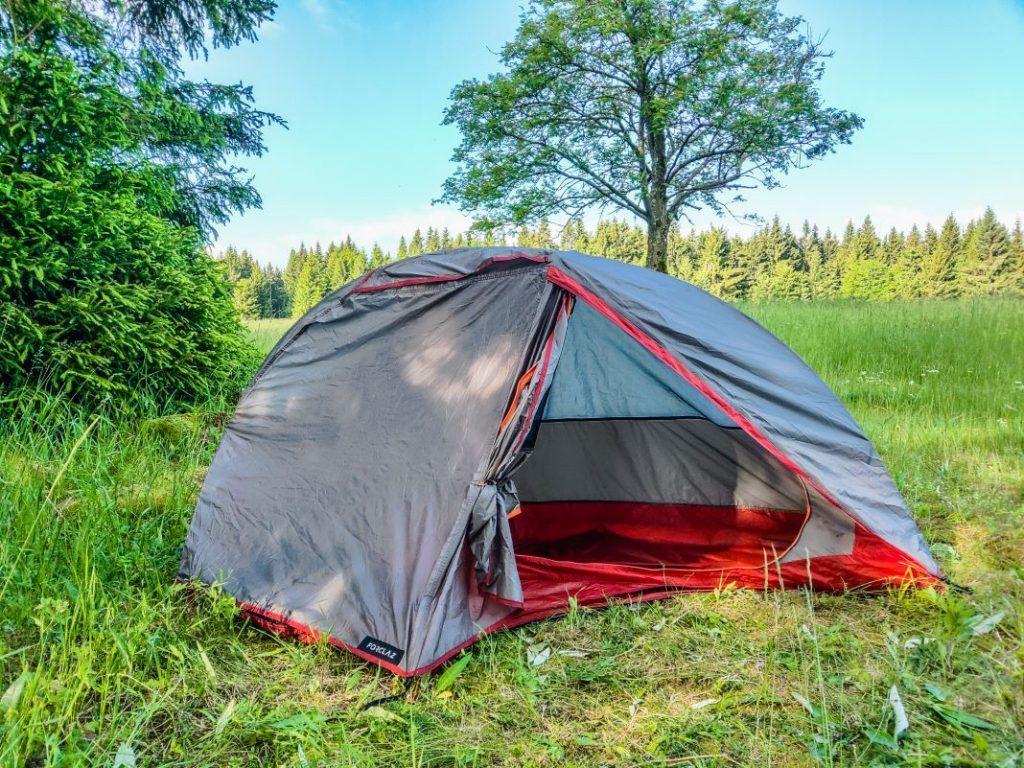 Trekkingzelt Forclaz Trek 900 Zelt freistehend